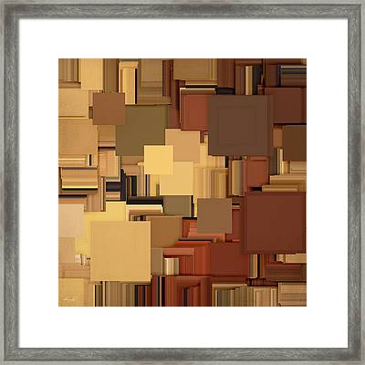 Shades Of Brown Framed Print by Lourry Legarde