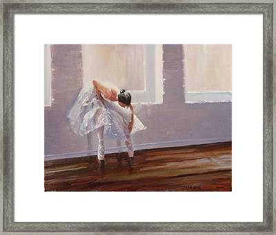 Shades Of Lavender Framed Print by Laura Lee Zanghetti