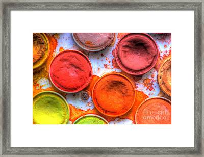 Shades Of Orange Watercolor Framed Print by Heidi Smith