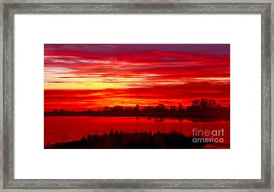 Shades Of Red Framed Print by Robert Bales