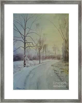 Shades Of White Framed Print by Martin Howard