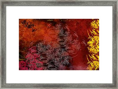 Shadow And Flame Framed Print by Christopher Gaston