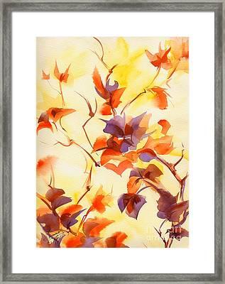 Shadow Leaves Framed Print by Summer Celeste