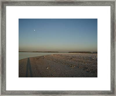 Shadow Moon Framed Print by Robert Nickologianis