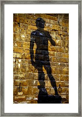 Shadow Of Michaelangelo's David Framed Print by Jenny Setchell