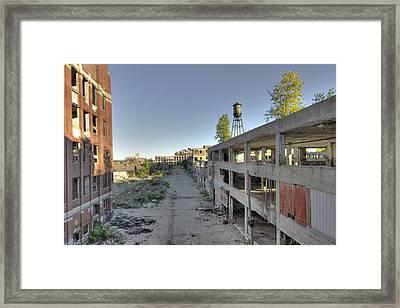 Shadowed Street Framed Print by Cindy Lindow