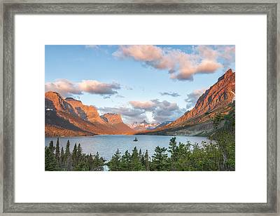 Shadowing Goose Island Framed Print by Jon Glaser