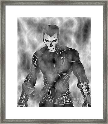 Shadowman In The Dead Grounds Framed Print by Justin Moore