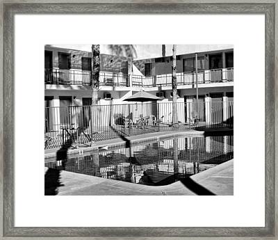 Shadows In Paradise Palm Springs Framed Print by William Dey