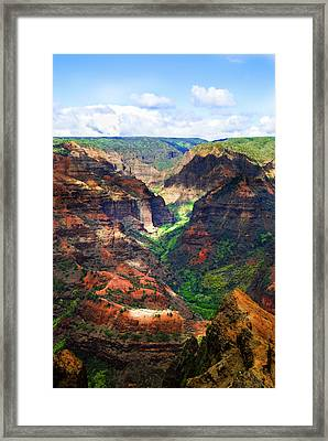 Shadows Of Waimea Canyon Framed Print by Christi Kraft