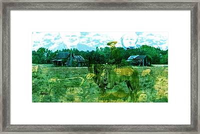 Shadows On The Land Framed Print by Seth Weaver