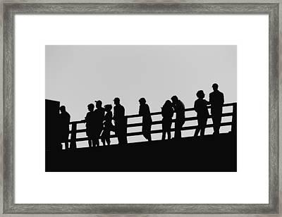 Shadows Framed Print by Tony Boyajian