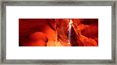 Shaft Of Sunlight In A Canyon, Antelope Framed Print by Panoramic Images