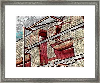 Shai-hulud Caged Framed Print by MJ Olsen