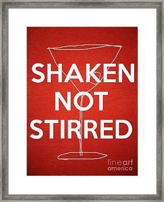 Shaken Not Stirred Framed Print by Edward Fielding