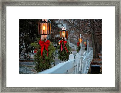 Shaker Lamp Posts Framed Print by Lone  Dakota Photography
