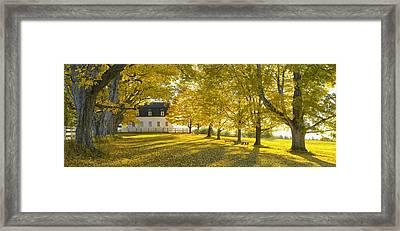Shaker Village Framed Print by Christian Heeb