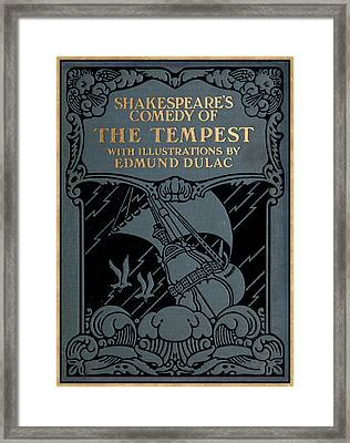 Shakespeares Comedy Of The Tempest Framed Print by Celestial Images