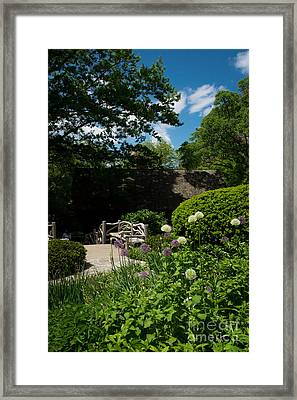Shakespeares Garden Central Park Framed Print by Amy Cicconi