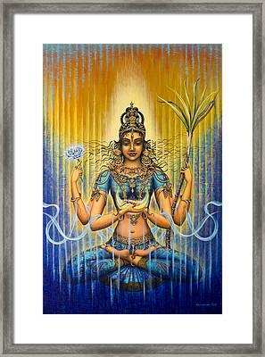 Shakti Flow Framed Print by Vrindavan Das