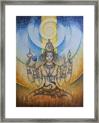 Shakti - Tripura Sundari Framed Print by Vrindavan Das