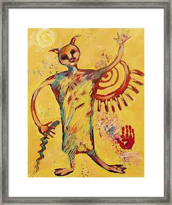 Shaman Greetings Framed Print by Carol Suzanne Niebuhr