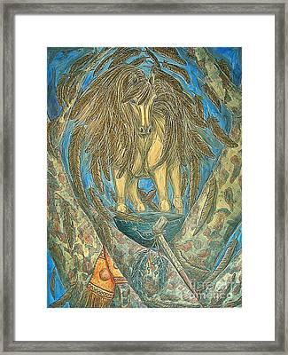 Shaman Spirit Framed Print by Kim Jones