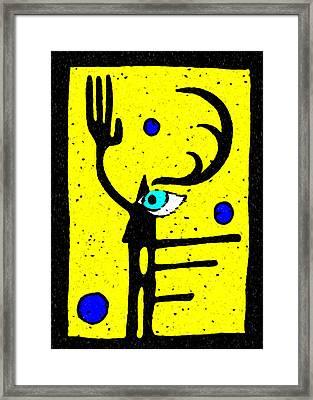 Shaman's Seeing Hand Framed Print by e9Art