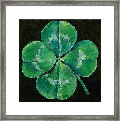 Shamrock Framed Print by Michael Creese