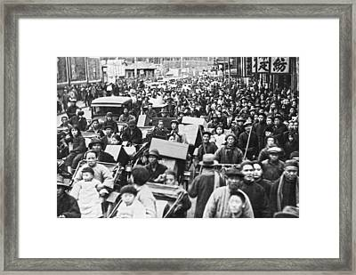 Shanghai China Refugees Framed Print by Underwood Archives