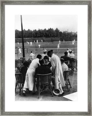 Shanghai Tennis Club Framed Print by Granger