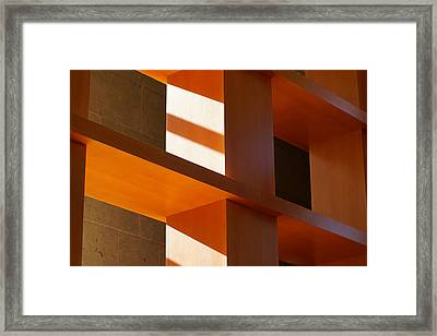 Shapes And Shadows 2 Framed Print by Ernie Echols