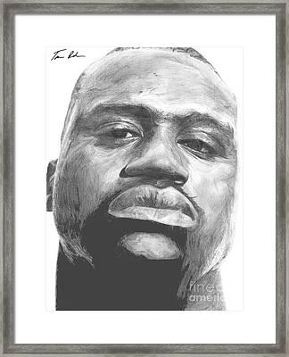 Shaq Framed Print by Tamir Barkan