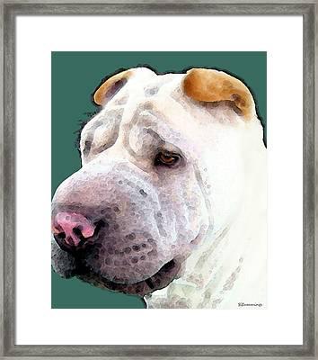 Shar Pei Art - Wrinkles Framed Print by Sharon Cummings
