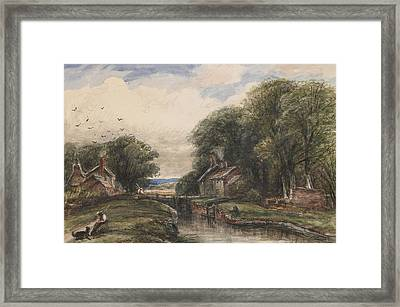 Shardlow Lock With The Lock Keepers Cottage Framed Print by James Orrock