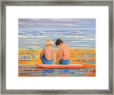 Sharing Is Caring Framed Print by Bill Holkham