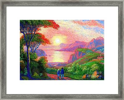 Sharing The Journey Framed Print by Jane Small