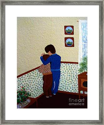 Sharing The Punishment Framed Print by Barbara Griffin