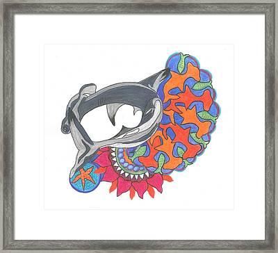 Shark Art Framed Print by Cherie Sexsmith