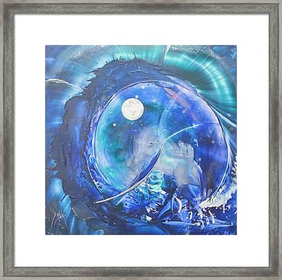 Shark Bay Curl Framed Print by Danita Cole