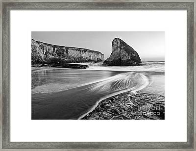 Shark Fin Cove At Dusk. Framed Print by Jamie Pham