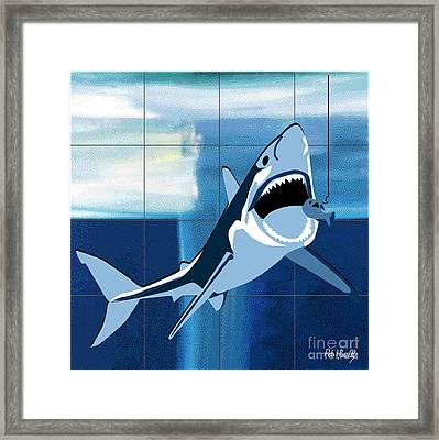 Shark Framed Print by Roby Marelly