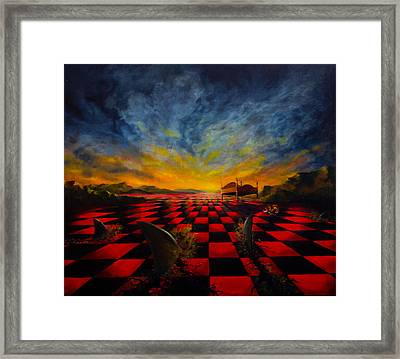 Sharkfin Bay Framed Print by Sourav Bose