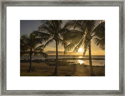 Sharks Cove Sunset 2 - Oahu Hawaii Framed Print by Brian Harig