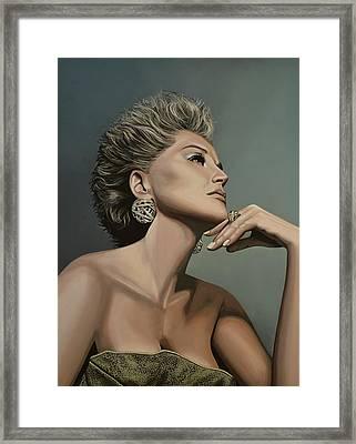 Sharon Stone Framed Print by Paul Meijering