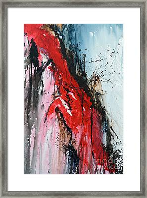 Shattered - Abstract Framed Print by Ismeta Gruenwald