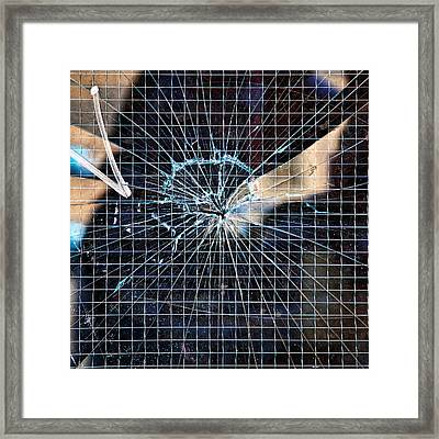 Shattered But Not Broken Framed Print by Peter Tellone