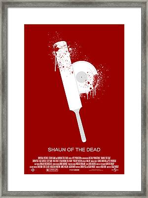 Shaun Of The Dead Custom Poster Framed Print by Jeff Bell