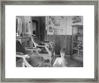 Shave And A Haircut Framed Print by Mark Eisenbeil