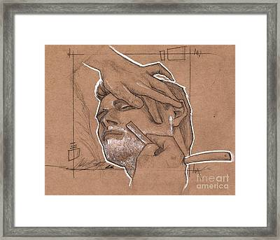 Shave Therapy Framed Print by Charles Edwards